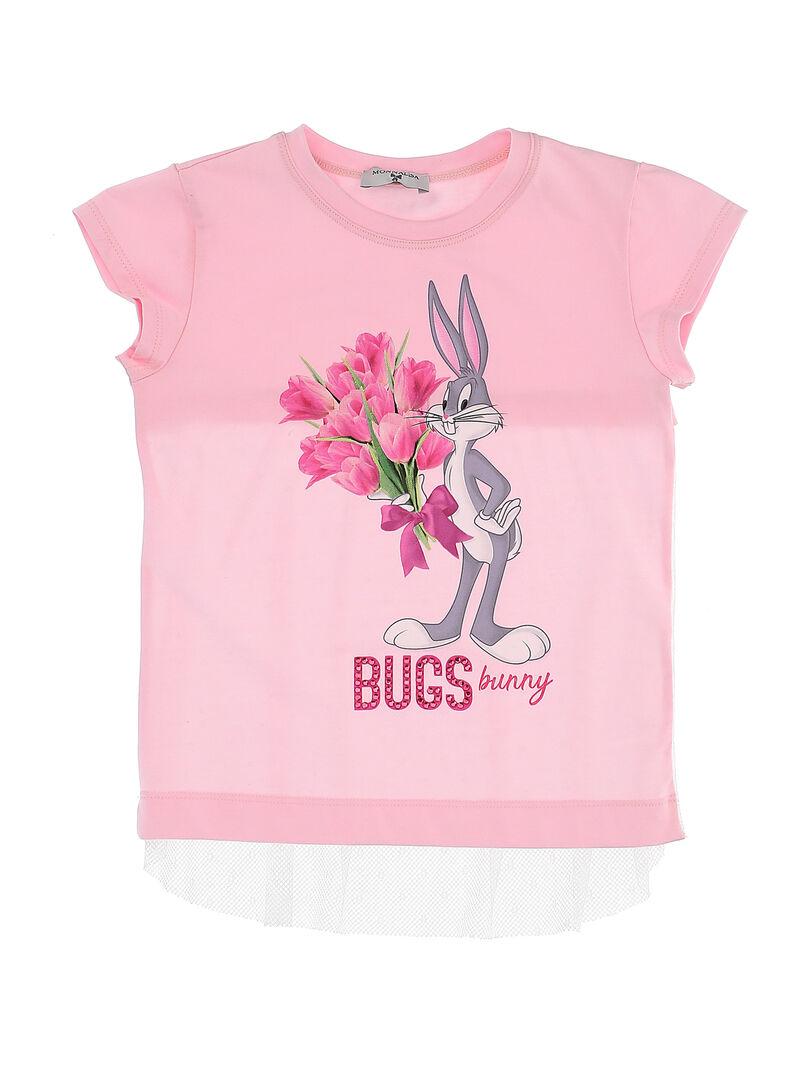 Camiseta Niña MONNALISA Rosa Bugs Bunny