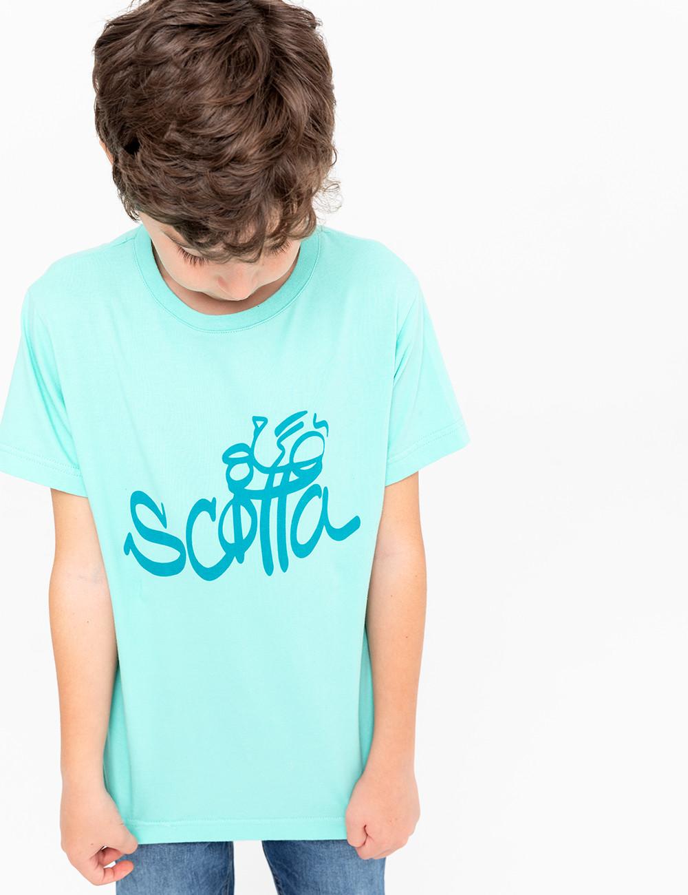 Camiseta Niño SCOTTA Turquesa